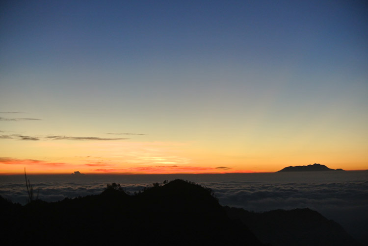 Catching sunrise at Mt. Penanjakan, overlooking Bromo