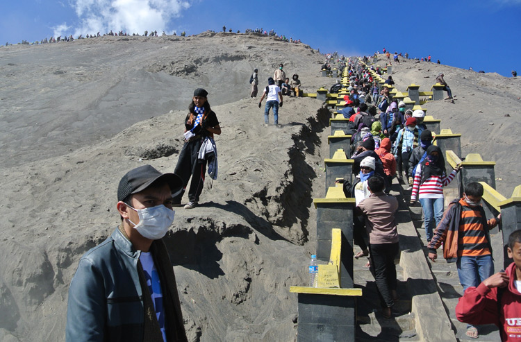 The stairs up to Bromo crater
