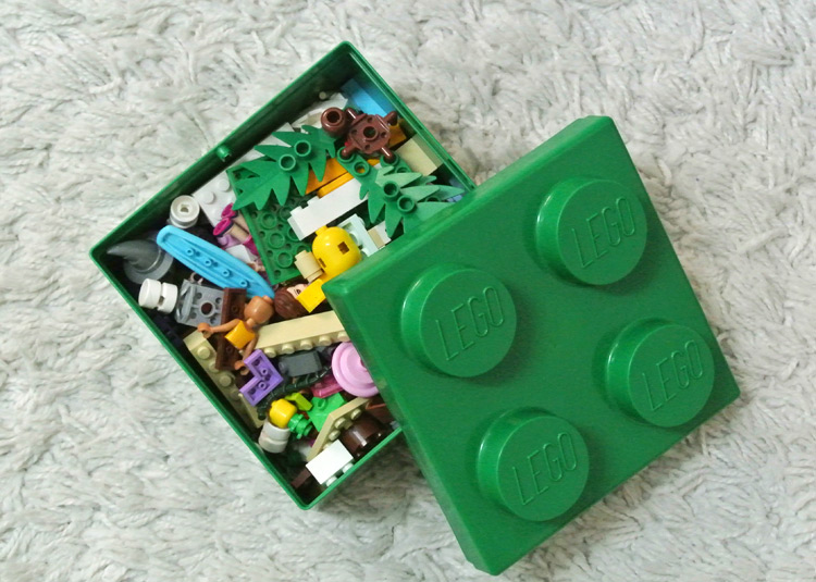 The Lego lunch box that comes with the kids meal for RM10.