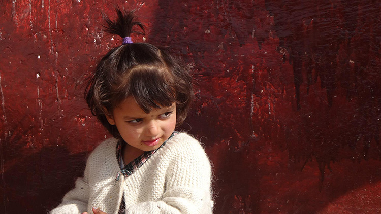 Girl in Nepal by Paulo Leite