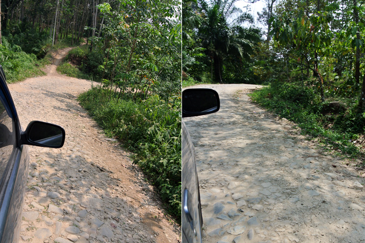 Rocky roads leading to Tinggi Raja