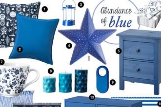 Abundance of Blue at IKEA