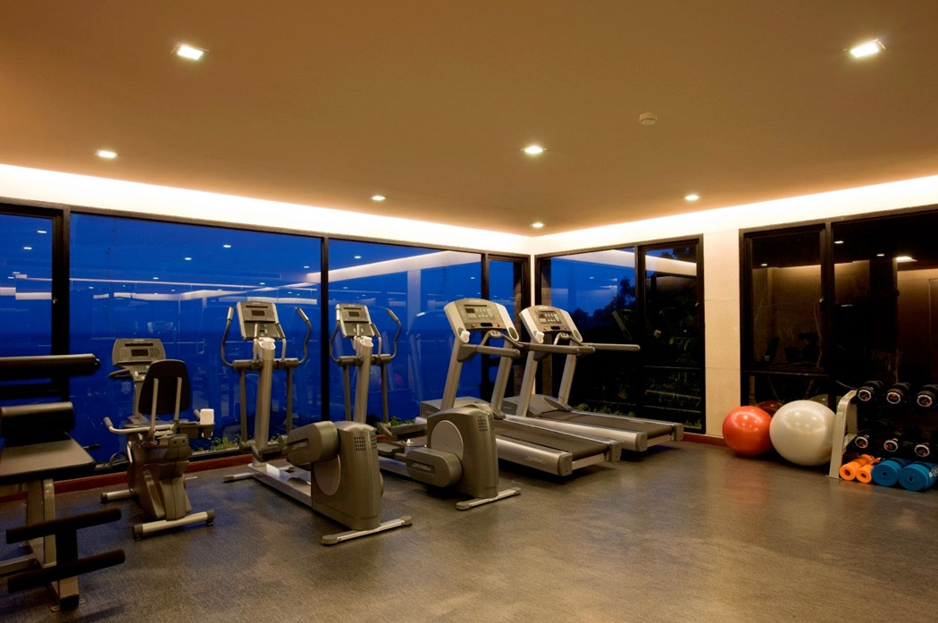 Gym with inspirational views of the ocean