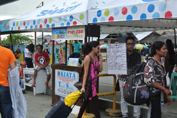 Transfer to Boracay is not hard to find - many operators set up counters outside Kalibo airport