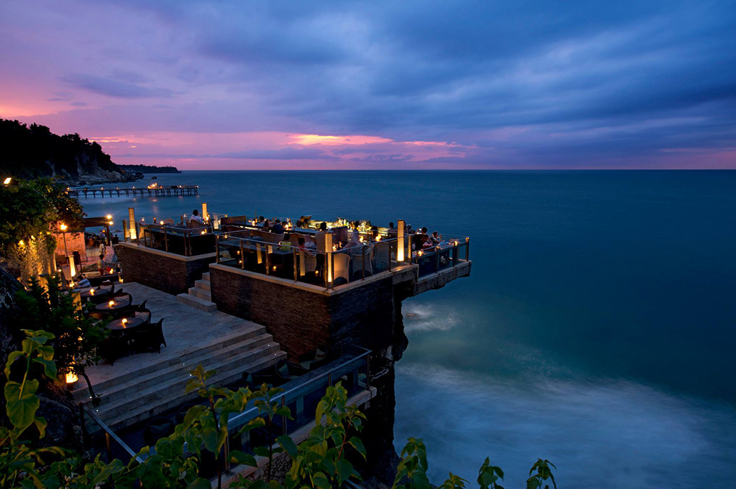 Rock Bar Bali - perched on top of the waves